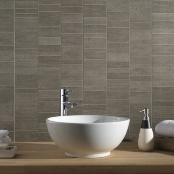 Grosfillex paneel Element S PVC stone taupe 2,925 m²