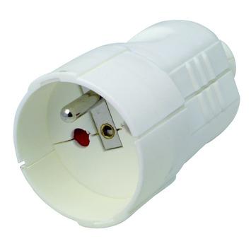 Fiche femelle bipolaire Profile 16A 3 x 1,5mm² blanc