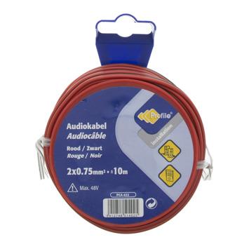 Câble audio Profile rouge-noir 2x0,75 mm² - long. 10 m
