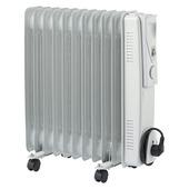 Oliegevulde radiator 11 elementen 2500 W wit