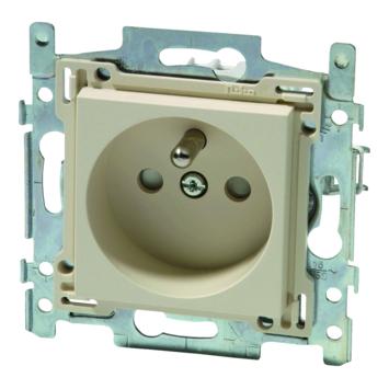Niko stopcontact 2-polig met aarding 28,5 mm cream