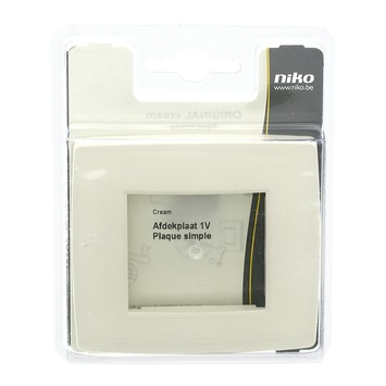 Niko Original afdekplaat enkelvoudig cream