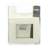 Plaque de finition simple Niko Original cream