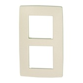 Plaque de finition double verticale Niko Original cream