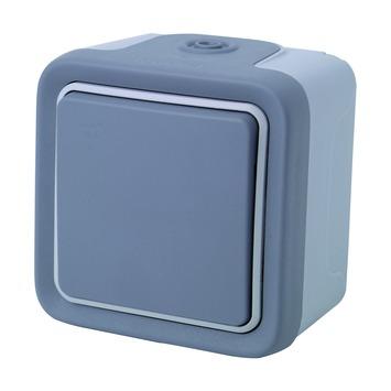 Legrand Plexo opbouwschakelaar 2-polig spuitwaterdicht grijs