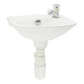 Ensemble lave-mains Gaia avec robinet et siphon blanc