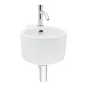 Ensemble lave-mains Hestia avec robinet et siphon blanc