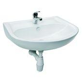 Ensemble lave-mains Hebe avec robinet et siphon blanc