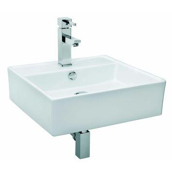 Ensemble lave-mains Dione avec robinet et siphon blanc