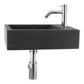 Ensemble lave-mains Patra avec robinet et siphon blanc