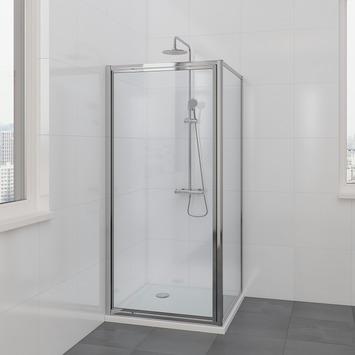 Cabine de douche Flux Bruynzeel 90x185cm chromé