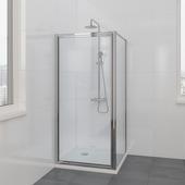 Bruynzeel Flux douchecabine 90x185cm chroom