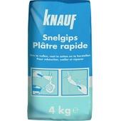 Plâtre prise rapide Knauf 4 kg