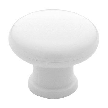 Bouton de meuble Juliette 40 mm synthétique blanc
