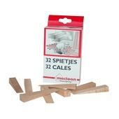 Maclean spietjes hout 32 stuks