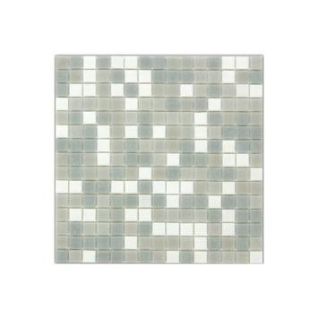 Wandtegel Glasmozaïek grijs 30x30 cm 1,07 m²