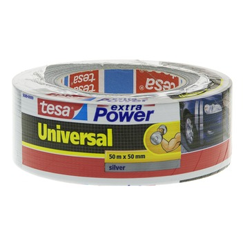 Tesa Extra Power Universal Ruban de réparation 50 m x 50 mm argenté