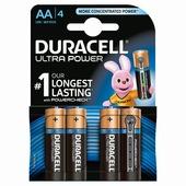 Duracell Ultra Power alkaline AA-batterijen 4 st