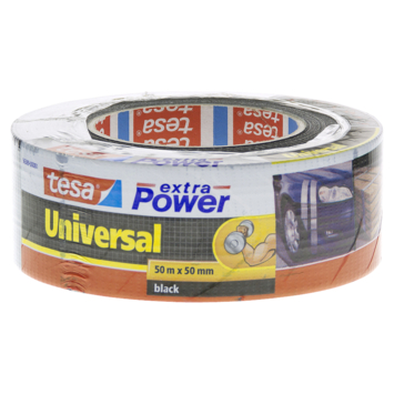 Tesa Extra Power Universal Ruban de réparation 50 m x 50 mm noir