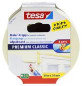 Tesa Premium Classic afplaktape 50 m x 30 mm geel