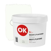 OK muur- en plafondverf mat schelp 5 L