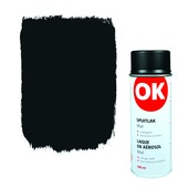 Laque en aérosol OK mat 400 ml noir