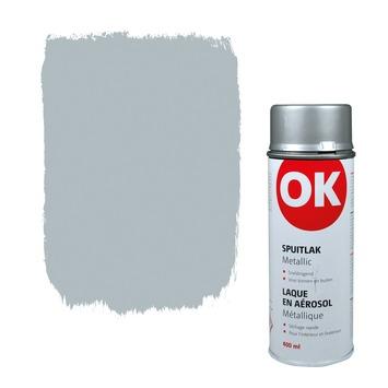 OK Spuitlak metallic zilver 400 ml