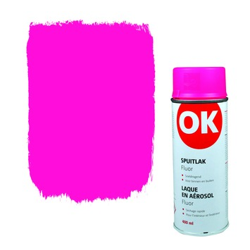 OK Spuitlak fluo roze 400 ml