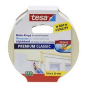 Tesa Premium Classic afplaktape 50 m x 50 mm geel