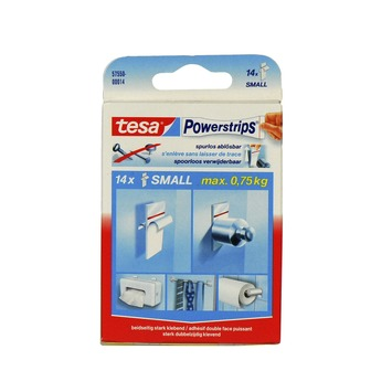 tesa powerstrips strips small wit 14 st tape. Black Bedroom Furniture Sets. Home Design Ideas