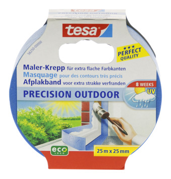 Ruban de masquage Tesa Precision Outdoor 25 mm 25 m bleu