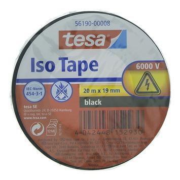 Tesa isolatietape 20 m x 19 mm zwart