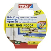 Tesa Precision Indoor afplaktape 25 m x 25 mm geel