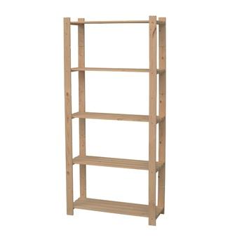 Handson opbergrek hout 5 legborden 45 kg/legbord 170x80x30 cm