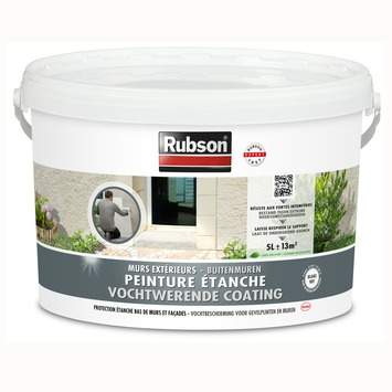 Peinture étanche murs extérieurs Rubson 5 L