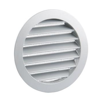 Renson inbouw schoepenrooster met muggengaas Ø125 mm aluminium wit