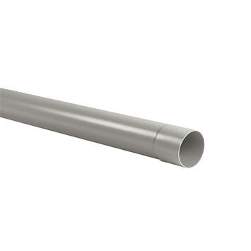 Martens regenwaterafvoerbuis met lijmmof grijs 3 m x 80 mm