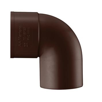 Coude EEP 90° Martens manchon à coller 80 mm brun