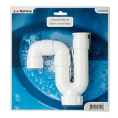 Siphon universel Martens ABS 32 mm blanc