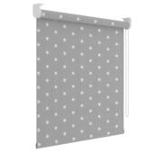 GAMMA rolgordijn dessin verduisterend 3579 grijs witte sterren 180x190 cm