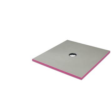 Receveur de douche Qboard liquid 40 mm 120x120 cm centré
