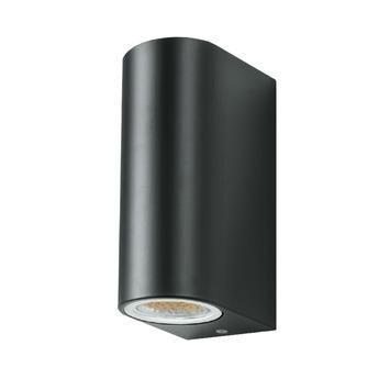 GAMMA wandlamp Liverpool met 2 LEDlampen GU10 7W 560 lumen grijs