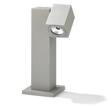 Borne lumineuse Vegas GAMMA LED intégrée 30 cm 7W 530 lumens gris