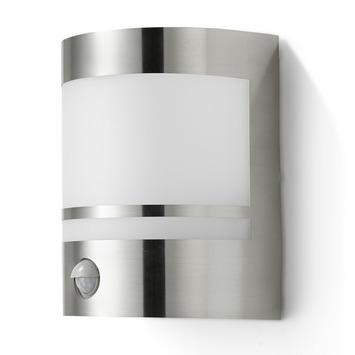 Applique extérieure Sheffield avec détecteur de mouvement GAMMA E27 15W inox ampoule non fournie