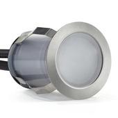 Spot à enterrer Preston GAMMA LED intégrée 2W 28 lumen inox 3 pièces