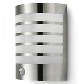 Applique extérieure avec détecteur de mouvement Prescot GAMMA E27 15W inox ampoule non fournie