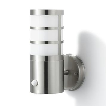 Applique extérieure avec détecteur de mouvement Leeds GAMMA E27 15W inox ampoule non fournie