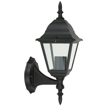 OK wandlamp staand geschikt voor E27 60W zwart exclusief lamp