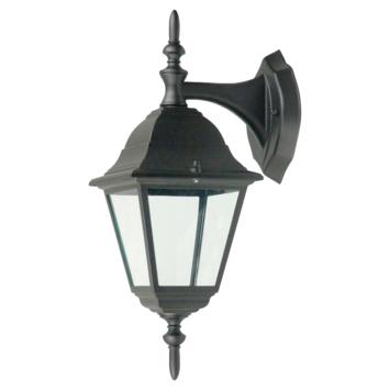 OK wandlamp hangend geschikt voor E27 60W zwart exclusief lamp