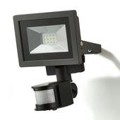 GAMMA straler met bewegingsmelder met geïntegreerde LED 10W 700 lumen zwart